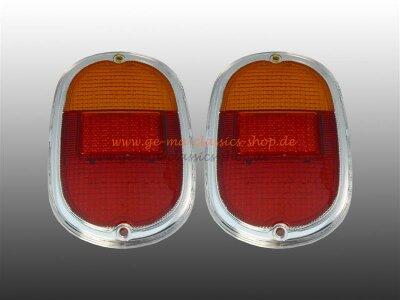 Rücklichtglas mit Chromrand Paar  für VW Bus T1...