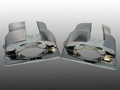 Zylinderbleche Chrom Doppelkanal Motor Paar für VW...