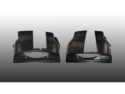Zylinderbleche Schwarz Doppelkanal Motor Paar für VW...