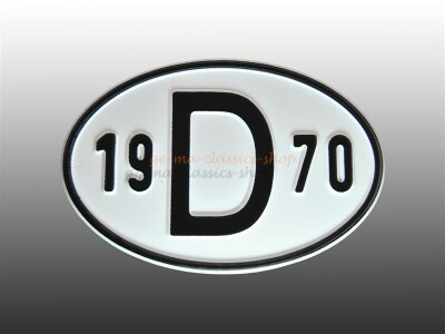 """""""D"""" Länderschild mit Jahr 1970"""