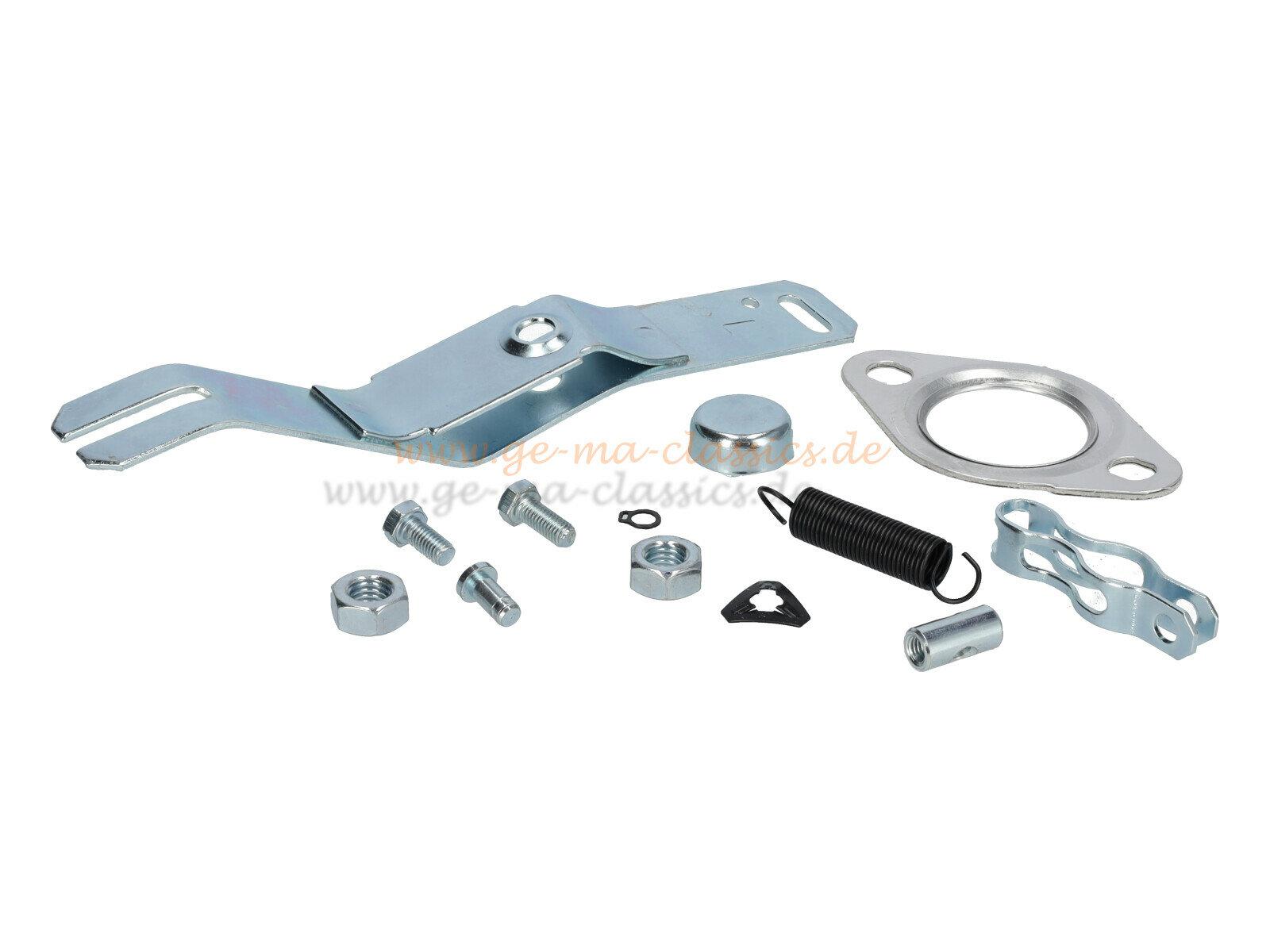 Wärmetauscher Anbausatz für VW Käfer Karmann links Repro
