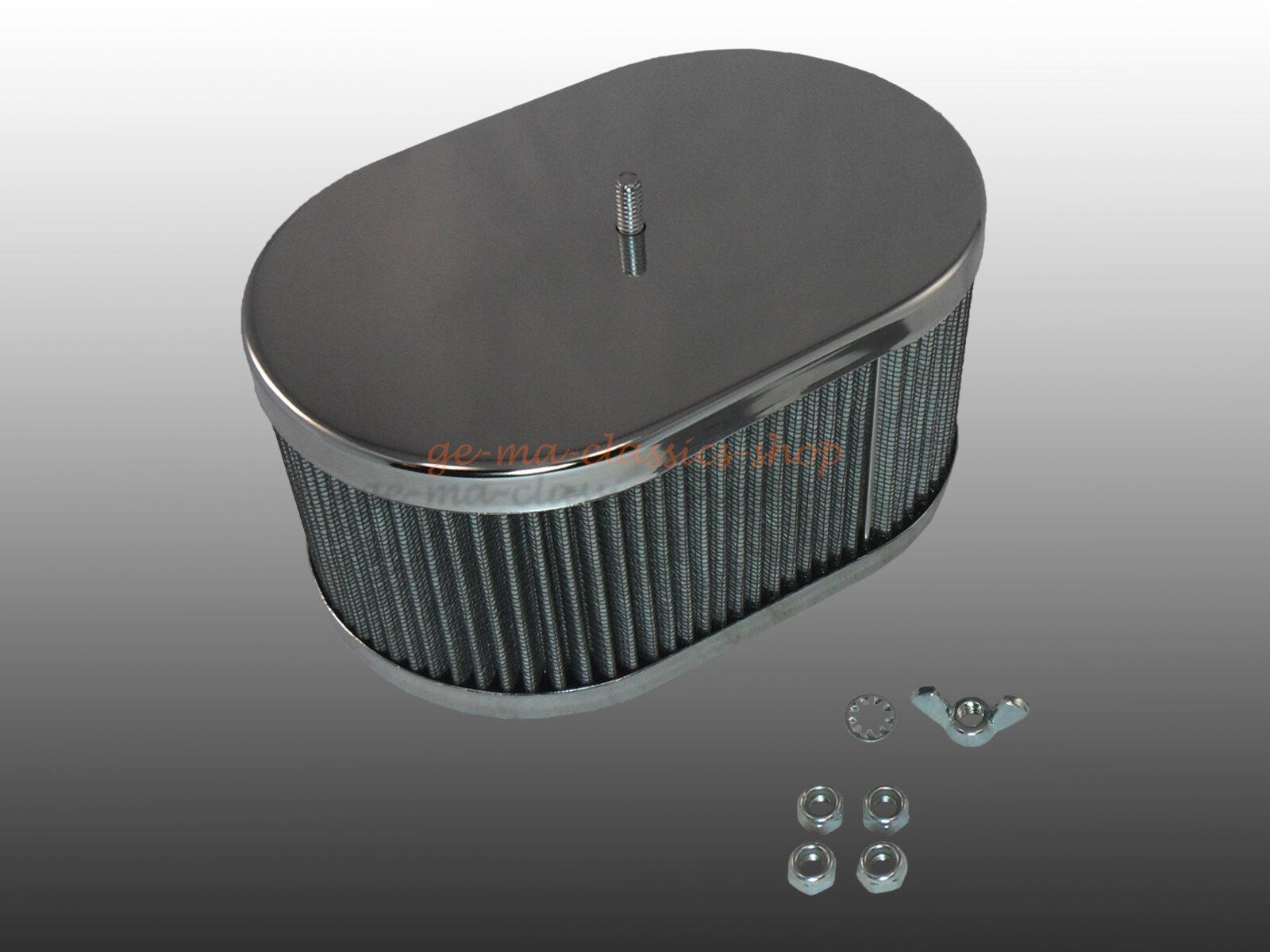 Chrom Luftfilter für VW Oval Käfer Bus Weber Vergaser Tuning