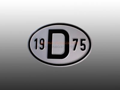 """""""D"""" Länderschild mit Jahr 1975"""