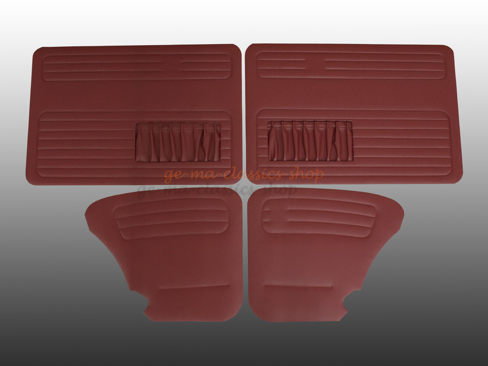 Türverkleidung Käfer ab 67 mit Tasche dunkel Rot