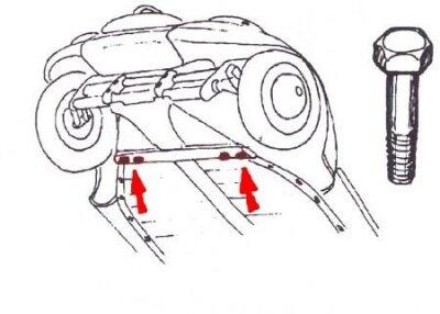 Schraube Bodenplatte vorne Käfer Karmann Typ14