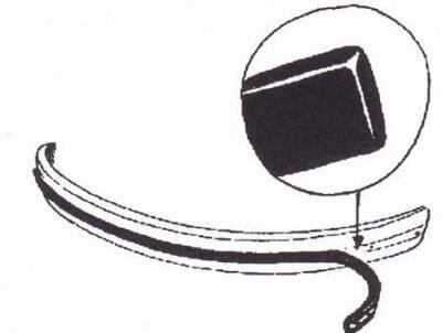 Prallgummi für VW Käfer Stoßstangengummi Vorne 68-74