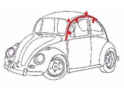 Chrom Zierstreifen Käfer Regenrinne Zierleisten
