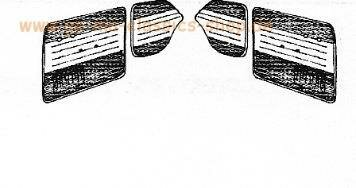 Türverkleidung Käfer-Cabrio 56-64 Grau Weiss