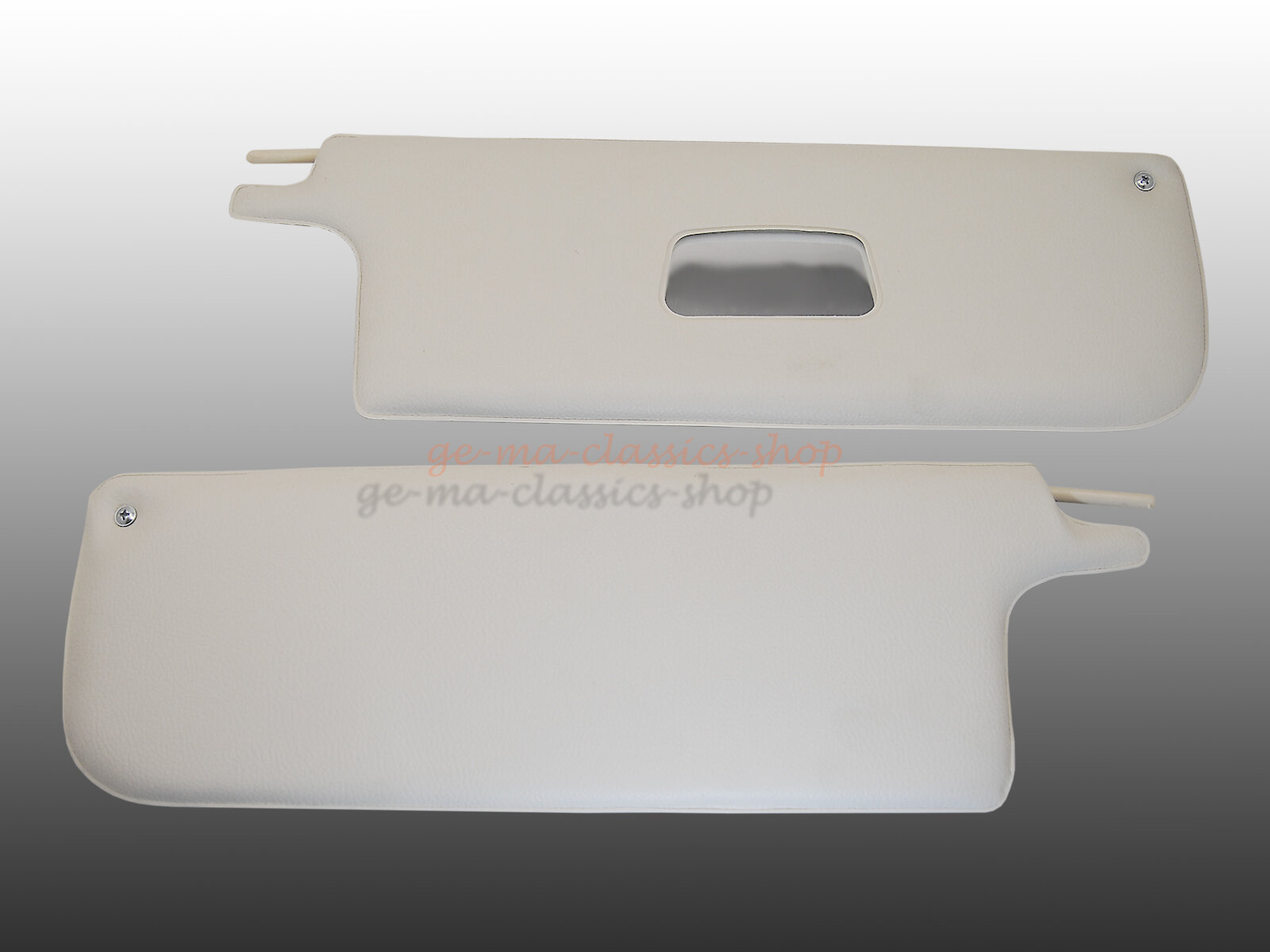 Sonnenblenden Käfer-Cabrio 65-72 WEISS