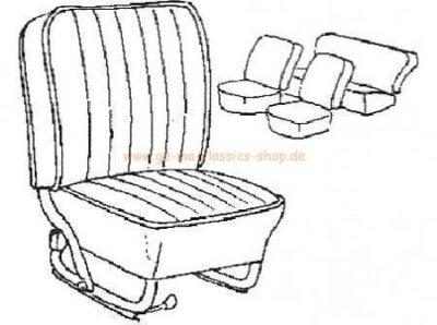 Sitzbezüge Käfer-Cabrio Coral ROT-WEISS 56-64