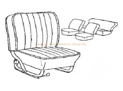 Sitzbezüge Käfer-Cabrio Rauch-GRAU 65-67