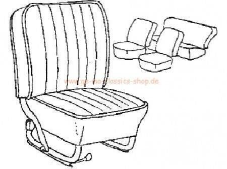 Sitzbezüge Käfer-Cabrio DUNKEL-ROT 65-67