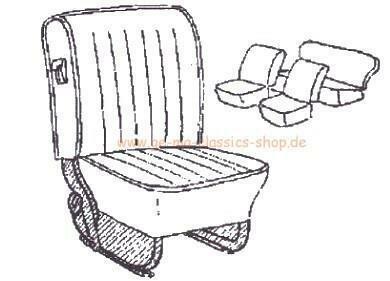 Sitzbezüge Käfer-Cabrio DUNKEL-ROT 68-72