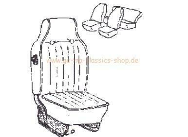 Sitzbezüge Käfer-Cabrio SCHWARZ 68-69 hoher Sitz