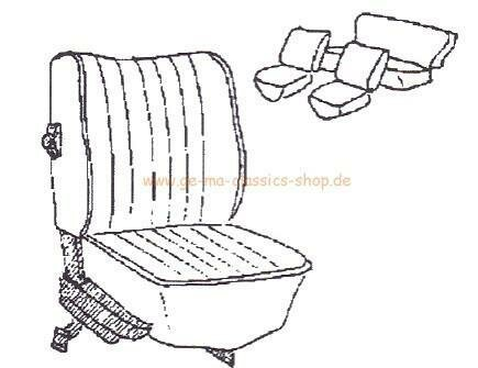 Sitzbezüge Käfer-Cabrio Hell-GRAU 73 TMI