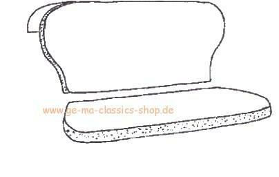 Schaumstoff-Sitzpolster Käfer-Cabrio Rücksitzbank 58-64