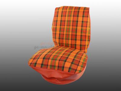 Sitzbezug für VW Bus T2b ab 74 Orange-Rot Fahrersitz...