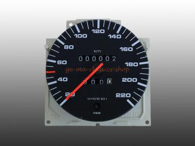 Audi 100 C2 Tacho 220 km/h 5-Zylinder BJ 80-82 NOS