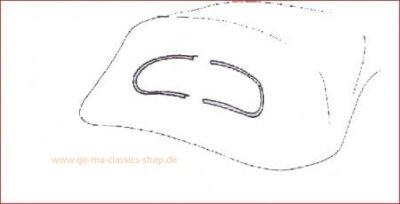 Aluminium Zierrahmen für VW Käfer-Cabrio 58-62 Heckscheibe