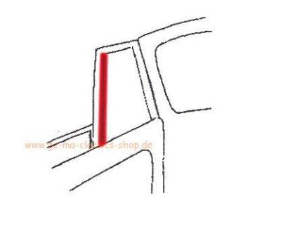 Rahmendichtung Dreiecksfenster für B-Säule Käfer-Cabrio 52-64