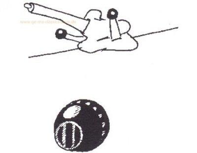 Knopf Heizungshebel Käfer ab 65 Schwarz