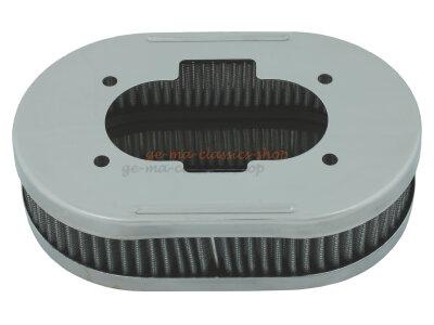 Luftfilter für Weber DCNF Vergaser Oval 45mm hoch