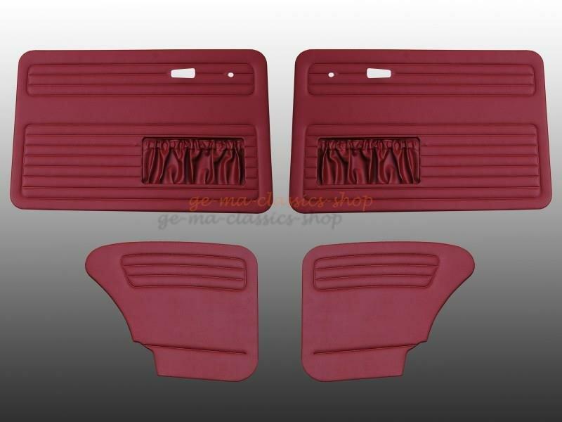 Türverkleidung Käfer ab 67 mit Tasche Dunkel-Rot