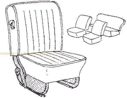 Sitzbezüge Käfer 68-72 Grau