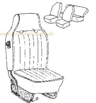 Sitzbezüge Käfer 68-69 Grau hoher Sitz