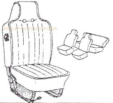 Sitzbezüge VW Käfer 70-72 Grau hoher Sitz