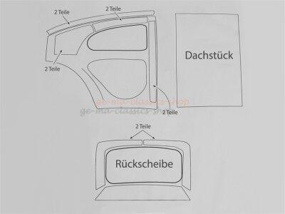 Polster Set unter Innenhimmel für VW Käfer...