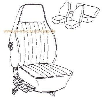 Sitzbezüge VW Käfer 73 Grau hoher Sitz