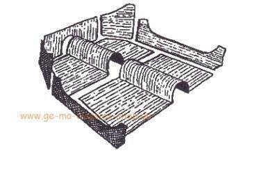 Teppich-Satz vorne Fussraum GRAU 1303