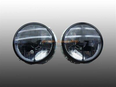 Scheinwerfer für VW Käfer ab 74 stehend H4 Schwarz Paar
