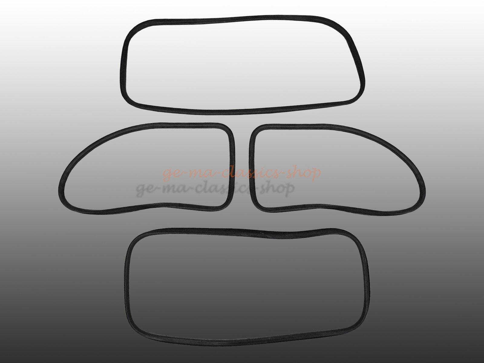 Scheibendichtsatz für VW Käfer 1302 ab 71 ohne Nut