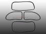 Scheibendichtsatz für VW Käfer 1302 ab 71 mit Nut für PVC Zierleiste