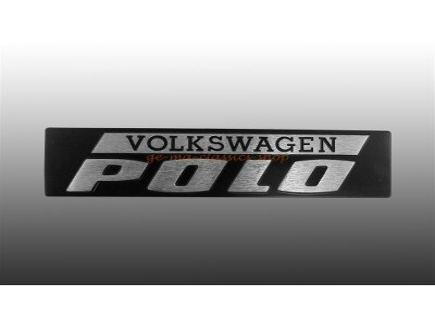 """""""VOLKSWAGEN POLO"""" Schriftzug hinten Polo 1"""