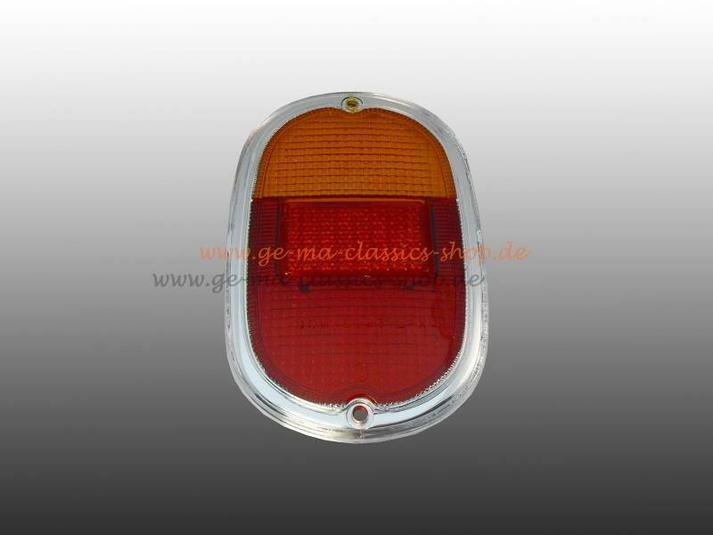 Rücklichtglas gelb rot für VW Bus T1 T2a 61-71 Chrom