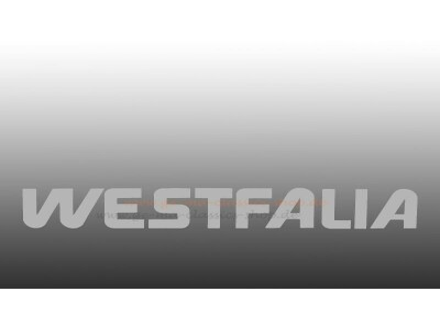 "Aufkleber ""Westfalia"" silber Bus T3"