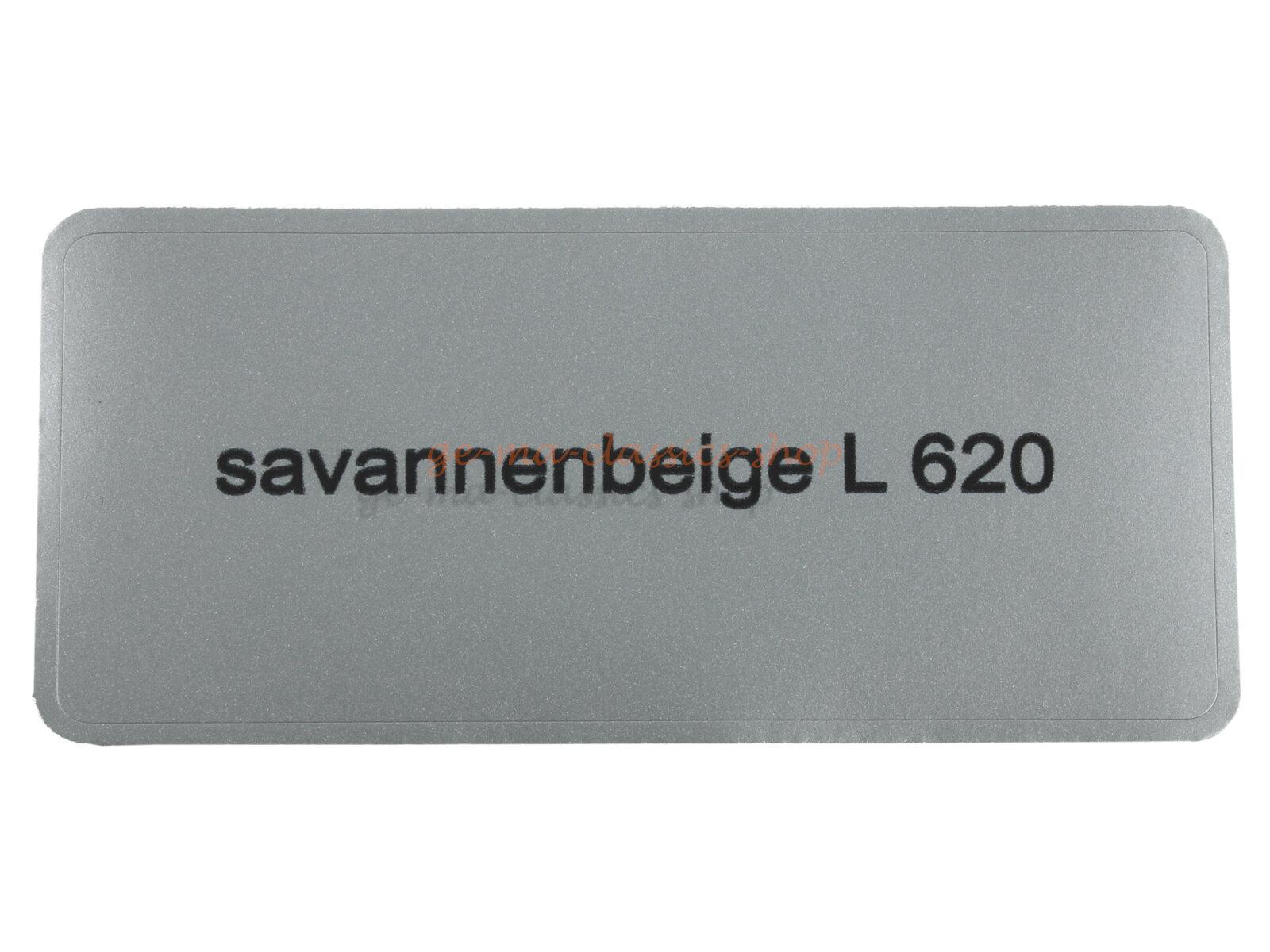 """Aufkleber """"savannenbeige L 620"""""""