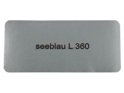 """Aufkleber """"seeblau L 360"""""""