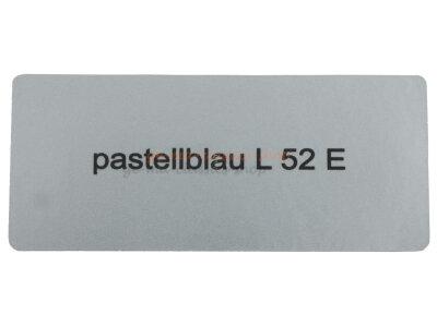 """Aufkleber """"pastellblau L 52 E"""""""
