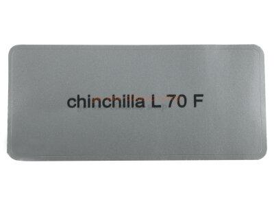 """Aufkleber """"chinchilla L 70 F"""""""