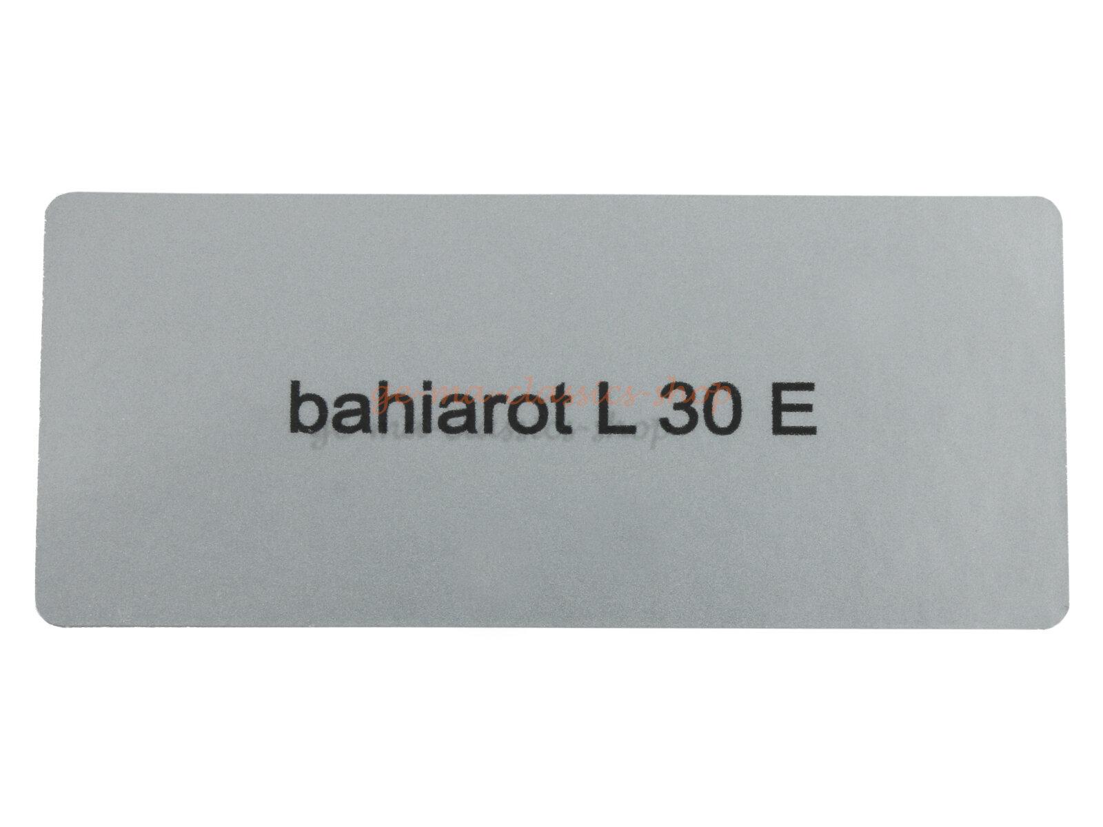 "Aufkleber ""bahiarot L 30 E"""
