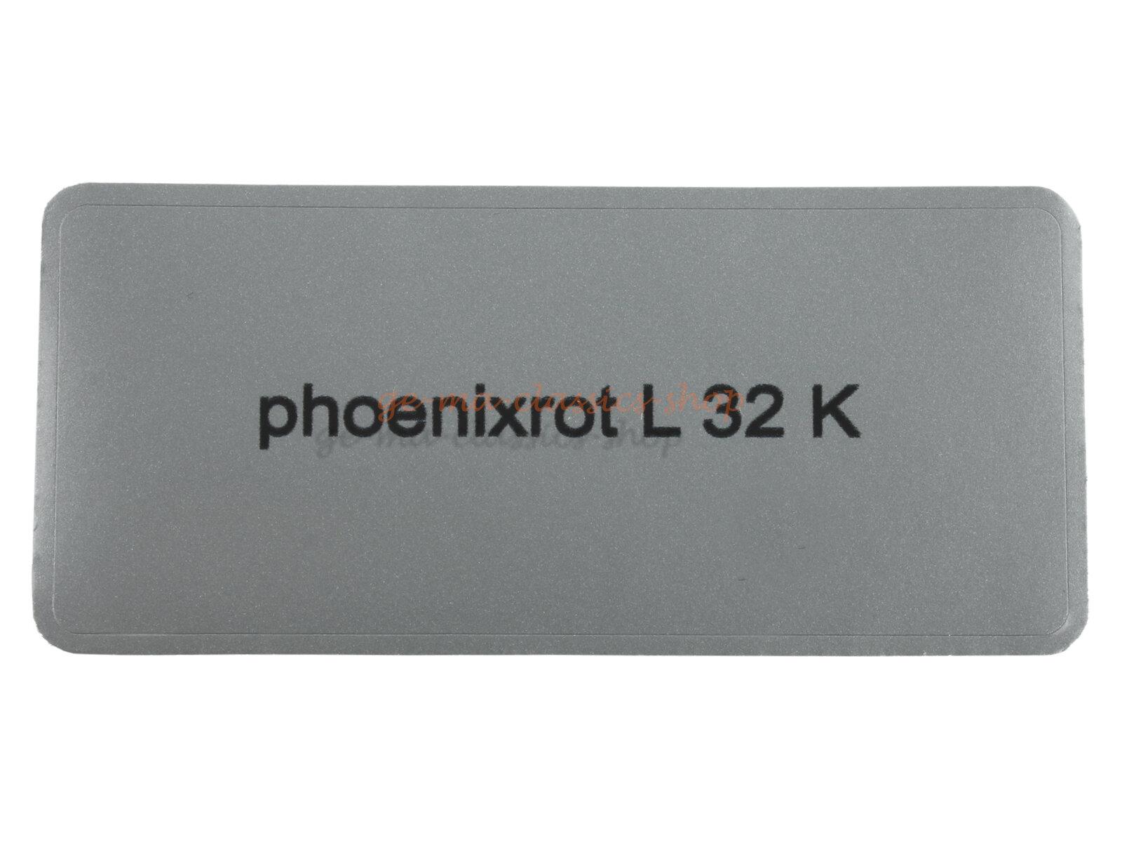 """Aufkleber """"phoenixrot L 32 K"""""""