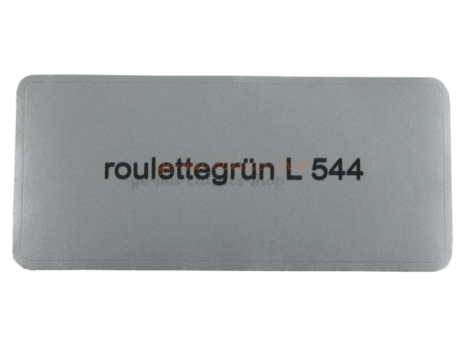"""Aufkleber """"roulettegrün L544"""""""