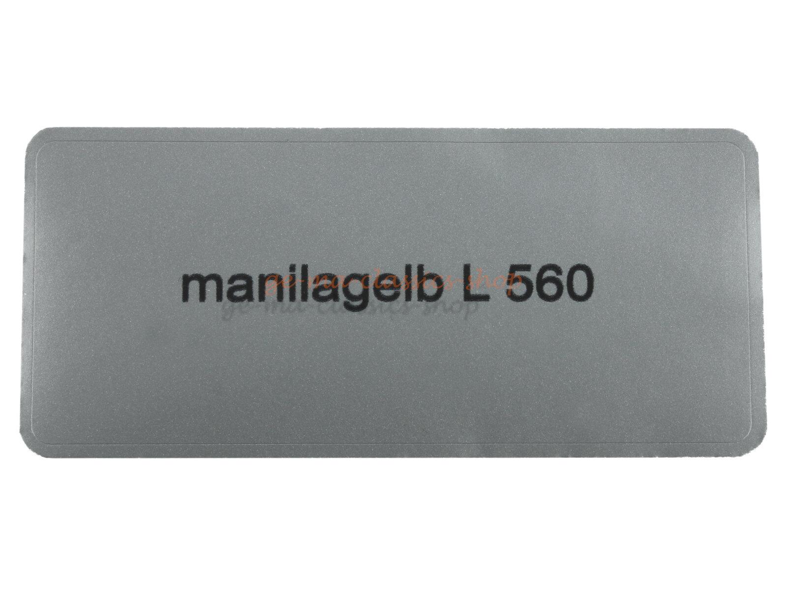 """Aufkleber """"manilagelb L 560"""""""