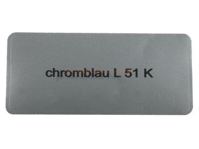 "Aufkleber ""chromblau L 51 K"""