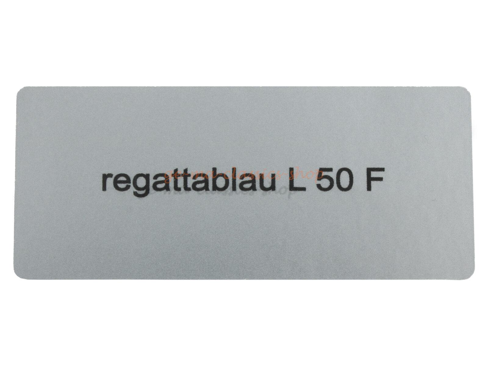 "Aufkleber ""regattablau L 50 F"""