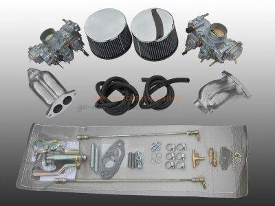 Zweivergaser Anlage für Doppelkanal Solex 34 Typ1
